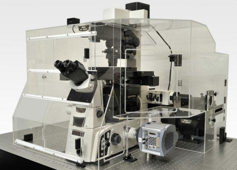 Photo of Nikon N-Sim microscope system